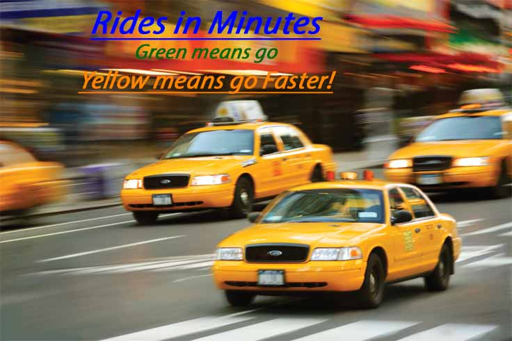 New York, New York, USA --- Taxis on the Go --- Image by © Benjamin Rondel/CORBIS